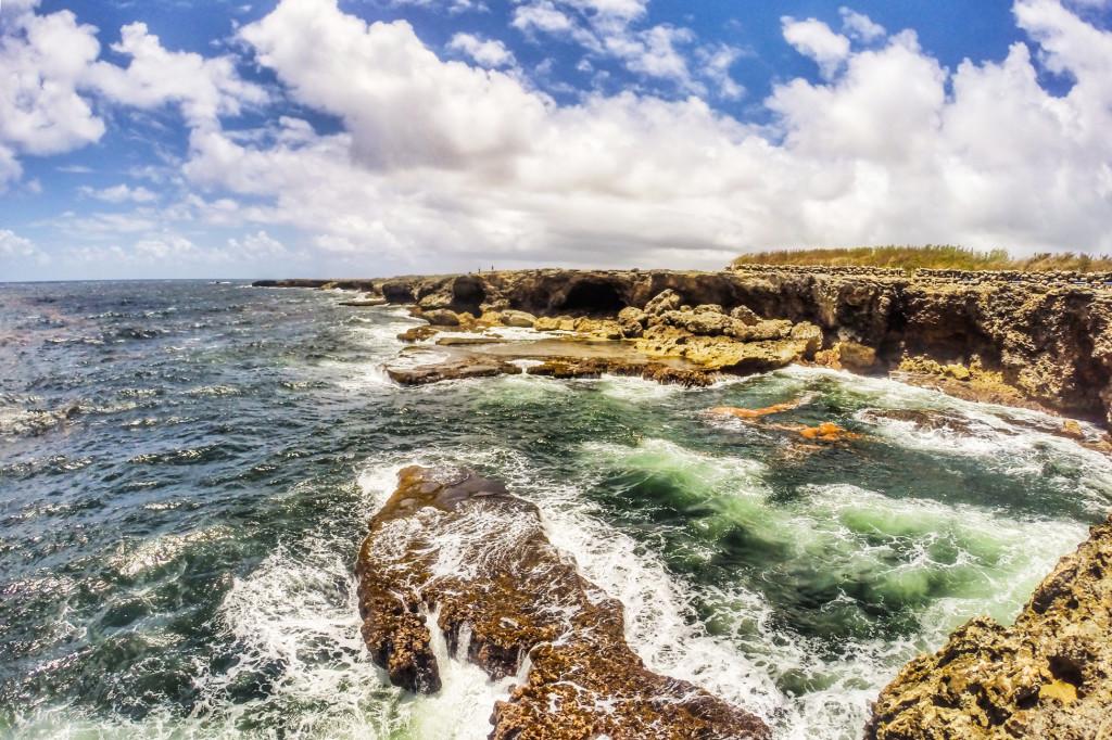 Extremidade norte de Barbados, onde fica a Animal Flower Cave